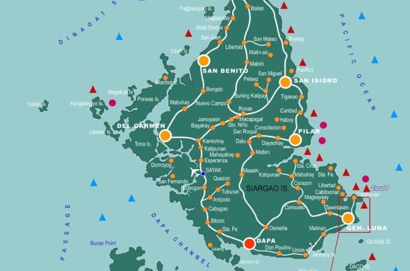 Guyam Island Map